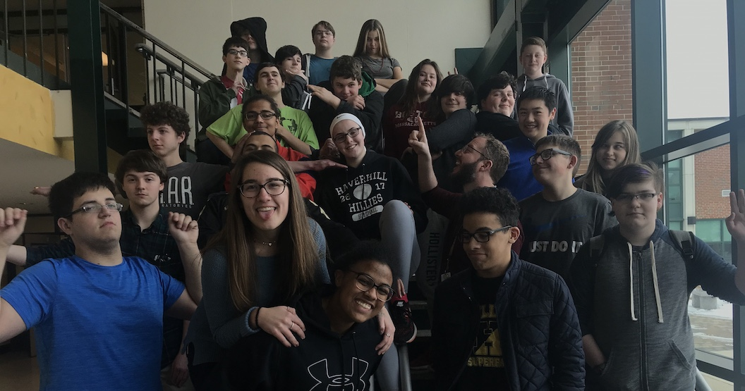 robotics club yearbook photo 2018